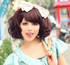 2015年韩式甜美女生短卷发流行趋势