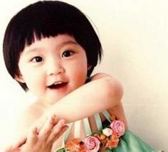 儿童最爱的锅盖头发型