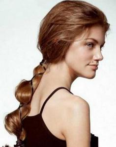 冬季长发唯美低马尾发型扎法