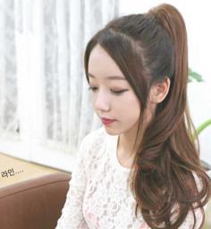 韩式可爱动人蛋卷头扎发发型