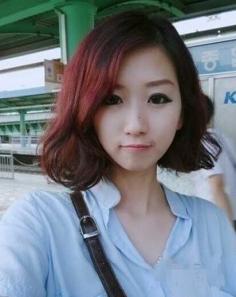 最新韩式短发蛋卷头发型图片