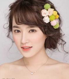 最迷人韩式新娘盘发发型大盘点