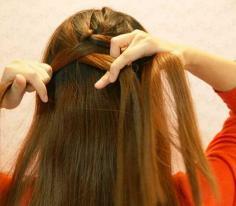 韩式蜈蚣辫的编法图解步骤
