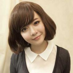 精灵甜美的短发梨花头发型图片