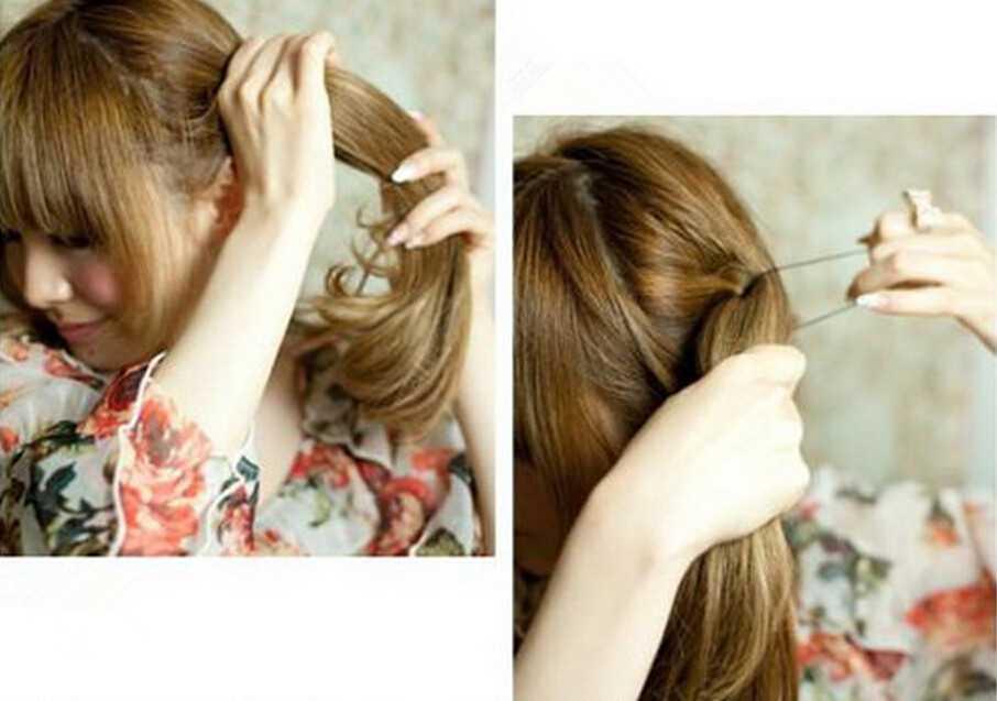 时尚懒人韩式花苞头扎法图解