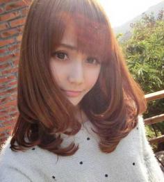 日系甜美梨花头发型图片