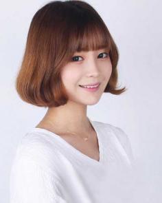 最新韩式空气刘海短发发型,夏季清爽必备