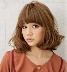 时尚韩式甜美荷叶头发型