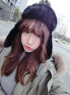 美美的空气齐刘海发型,女神范十足!