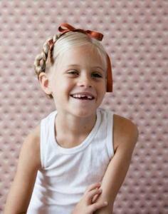 儿童简单好看的蝴蝶结扎头发步骤