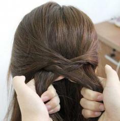 一款淑女气质的直发发型DIY