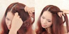 韩式淑女范盘发发型教程