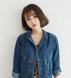 韩国空气刘海短发,超适合夏天的发型