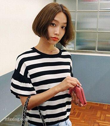 最新时尚修颜韩式短烫发发型图片欣赏