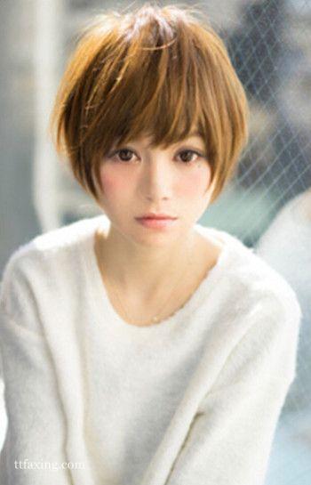小脸发型适合的短发,齐耳女生可爱俏皮第2页什么叫qq烫发图片