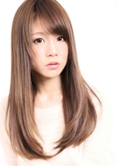 唯美日系长直发发型图片,尽显女神气质