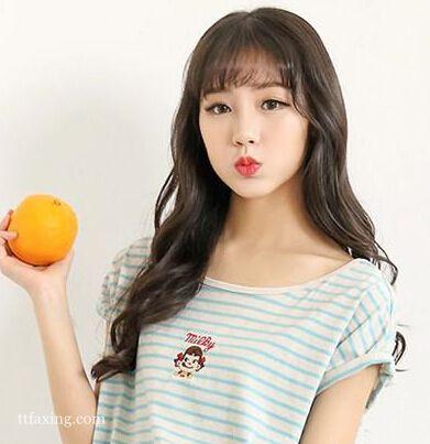 甜美韩式空气刘海长发发型图片精选