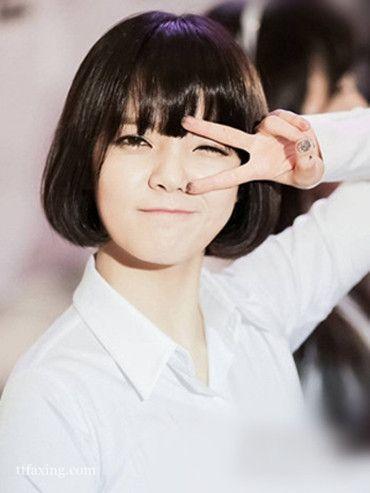 方脸女生短发怎么剪,首选五款韩式修颜短发
