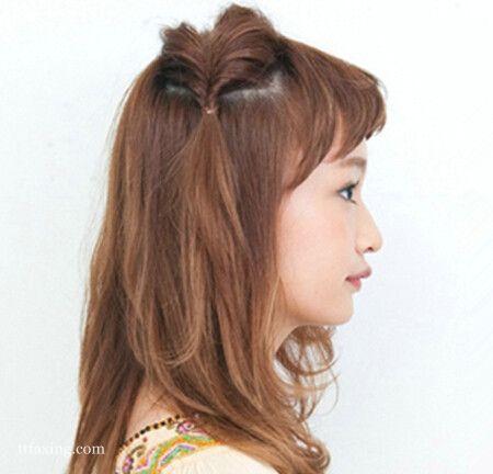 发簪可爱清新发型