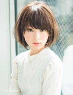 最新小脸短发发型推荐,搭配刘海更修颜