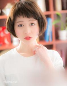 女生剪什么短发好看,日系蘑菇头减龄修颜