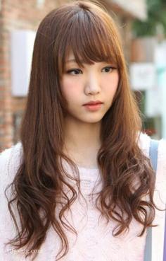 精选五款韩式斜刘海发型,修颜更显气质