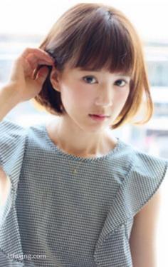 小脸女生适合的发型,齐耳短发俏皮可爱