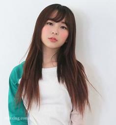 韩式唯美齐肩长直发,打造气质美女