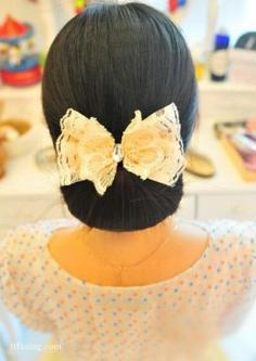 超美的韩式鸟窝盘发,8个步骤轻松搞定