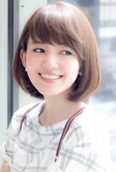 日系甜美波波头短发发型图片精选
