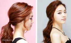 气质蓬松韩式发型扎法步骤