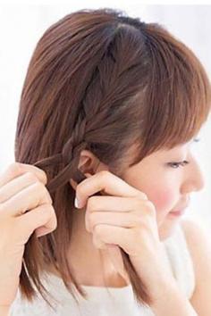 中长发半扎半披发型 修饰脸型清纯可爱