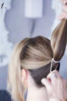 长卷发发型的扎法教程 打造层次感饱满的花苞头
