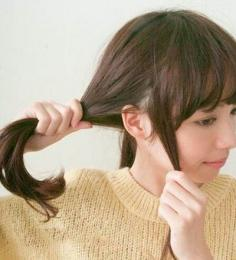 不用盘发器的花苞头扎法 让你尽显优雅
