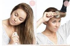 女生洗完头后 用吹风怎么把头发吹蓬松