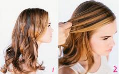 韩式瀑布麻花辫卷发扎法步骤 打破单调的卷发发型