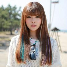 长发直发发型图片 清新又甜美