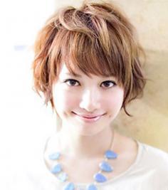韩式短发烫发发型图片 打造专属冷艳气质