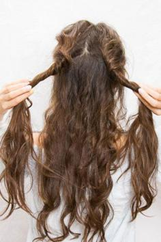 长卷发的扎法 慵懒随意森女范儿十足
