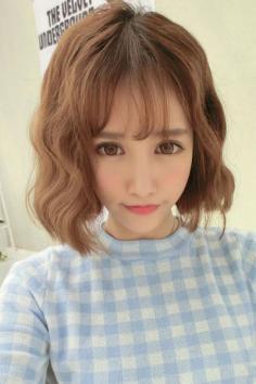 空气刘海短发发型图片 可爱时尚灵动感十足