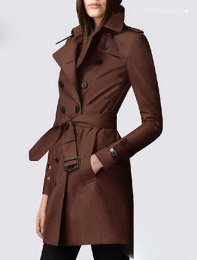 女士风衣外套 冬季保暖显瘦搭配