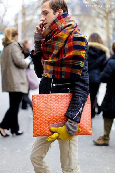 男士围巾的各种围法 简单打造冬季潮男