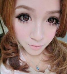 可爱大眼娃娃妆化法图片 轻松快速打造日系大眼娃娃妆