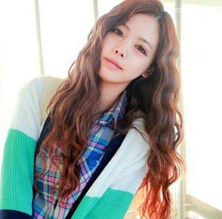 好看的韩国水颜色烫发波纹推荐_发型设计-天抛光粉的图片头发图片