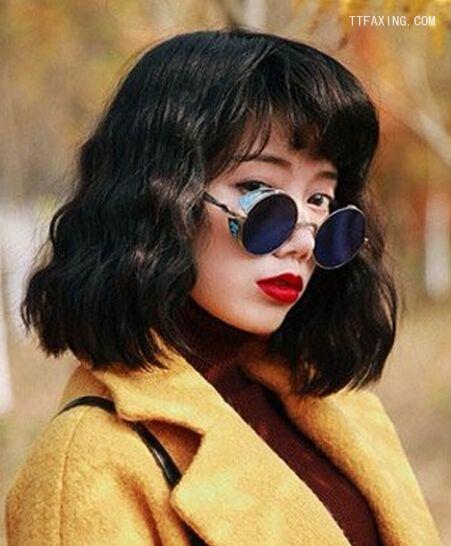 好看的韩国水图片烫发发型v图片第2页_头型设女福娃波纹图片图片