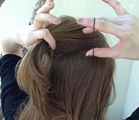 冬季发型中发型扎法,公主头完美逆袭_发型设计2017徐璐长发图片
