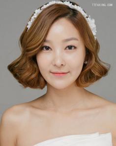 5款短发新娘发型推荐,新娘短发也能很漂亮