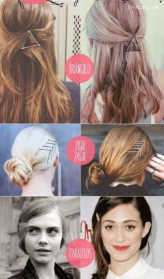 欧美潮人流行别致小发夹diy发型