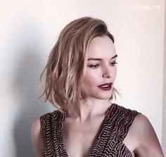 2016慵懒气质的欧美lob发型欣赏