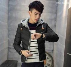 时尚潮流的男生斜庞克发型图片